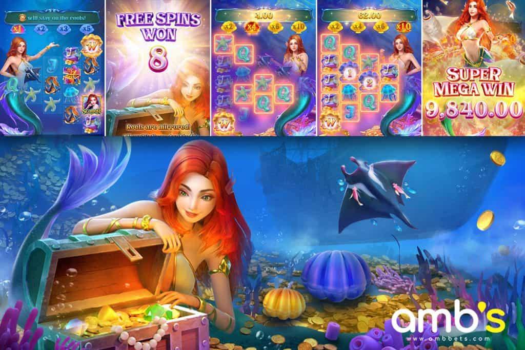 สล็อตเกมใหม่จาก PG  Mermaid Riches