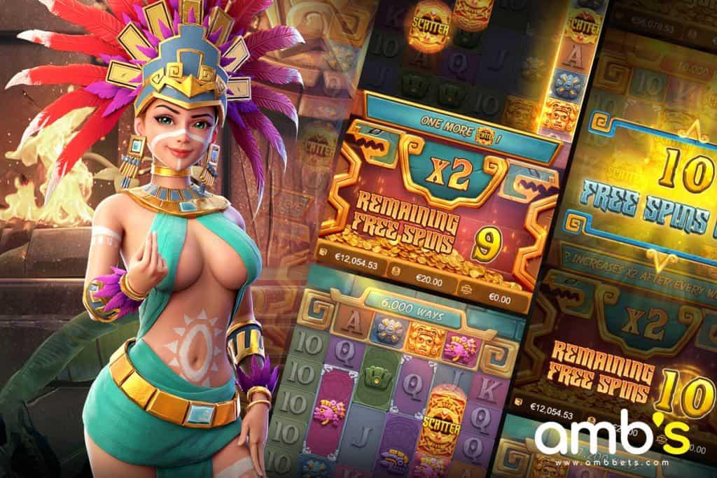 Treasures Of Aztec เกมสล็อตที่มาในธีมผจญภัยตามล่าหาขุมทรัพย์แห่งแอซเท็ค ที่ได้ซ่อนไว้ในพีระมิด